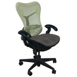 Herman Miller Mirra Used Mesh Seat Task Chair Citron