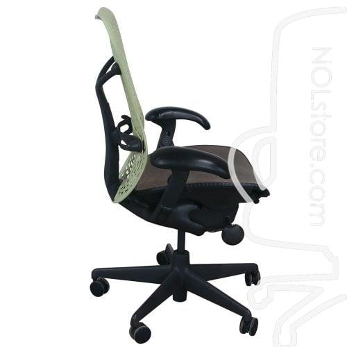 Herman Miller Mirra Used Mesh Seat Task Chair Citron Side View