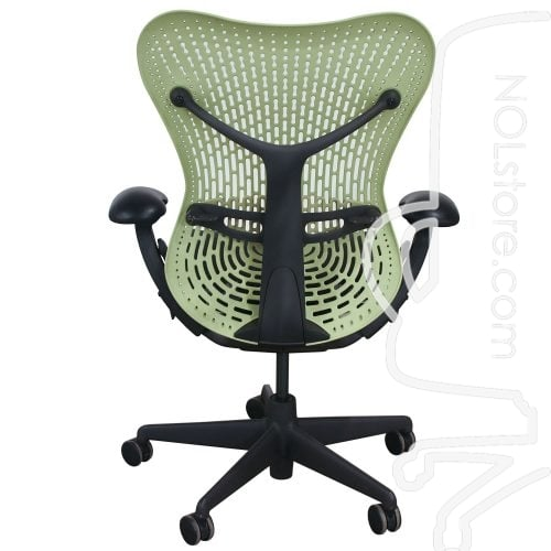 Herman Miller Mirra Used Mesh Seat Task Chair Citron Back View