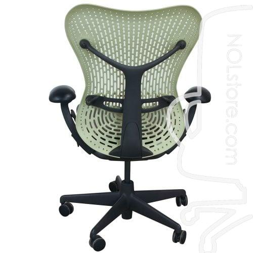 Herman Miller Mirra Used Mesh Seat Task Chair Citron Back View
