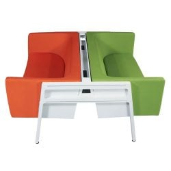 Steelcase Turnstone Bivi Used Sofas Orange and Green