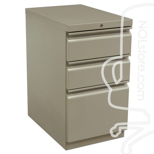 HON Used Box Box File Pedestal Putty Front View