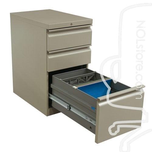 HON Used Box Box File Pedestal Putty Open File Drawer