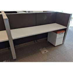 Herman Miller 24x72 Used Canvas Telemarketing Stations