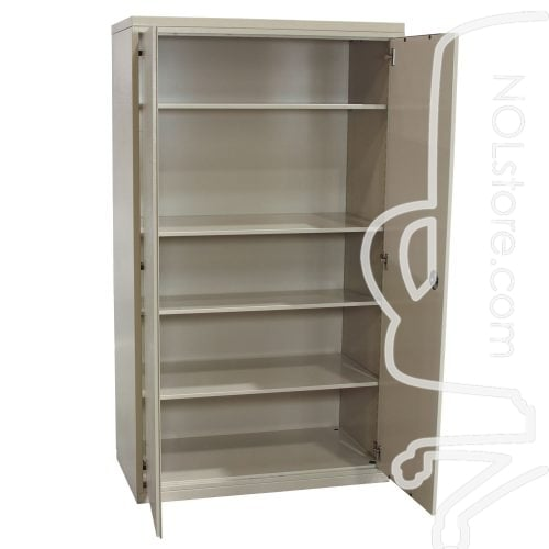 Herman Miller Meridian Used 36 Inch Storage Cabinet Putty Open Doors