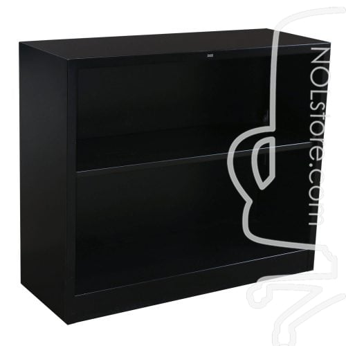 Hon Brigade Steel Used 2 Shelf Bookcase Black