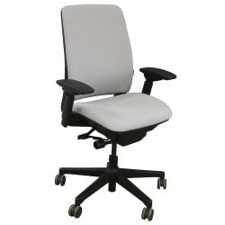 Steelcase Amia Used Task Chair Silver Frost Front View