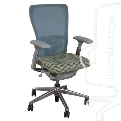 Haworth Zody Mesh Back Used Task Chair Multi-Color Front View