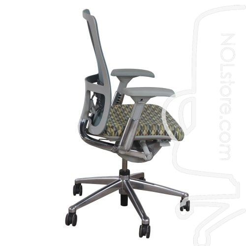Haworth Zody Mesh Back Used Task Chair Multi-Color Side View