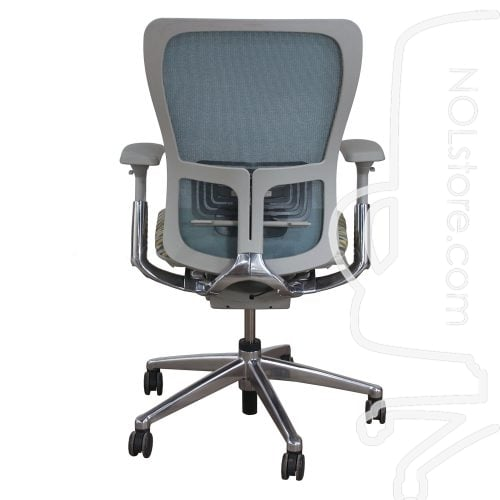 Haworth Zody Mesh Back Used Task Chair Multi-Color Back View