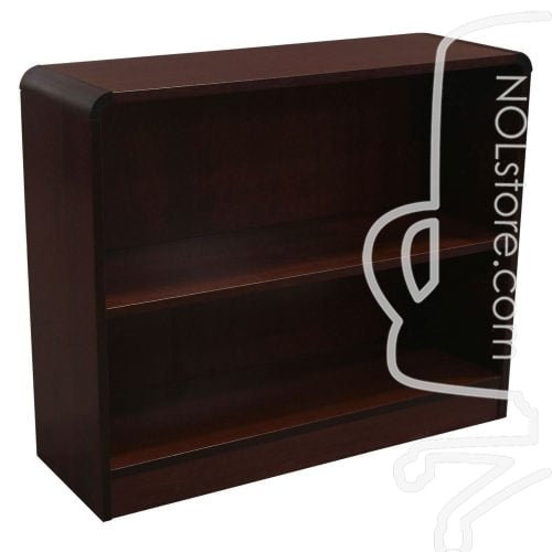 Knoll Reff Used Veneer 2 Shelf Bookcase Espresso