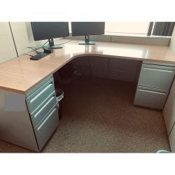 6x6 Used Cubicles By Haworth Gray - Sold in Rows