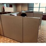6x7 Used Cubicles By Haworth, Gray - Sold in Pods