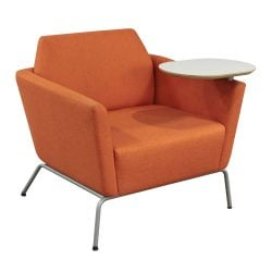 Encore Clipse Used Lounge Chair with Tablet and Grommet Orange Front View