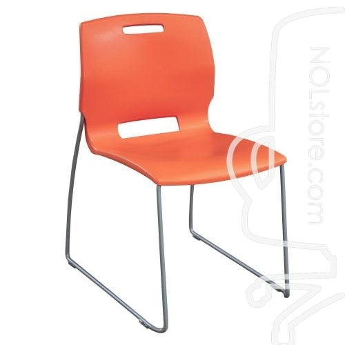 Fixtures Furniture Fetch Used Stack Chair Orange Front View