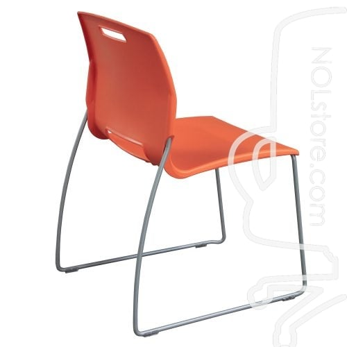 Fixtures Furniture Fetch Used Stack Chair Orange Side View