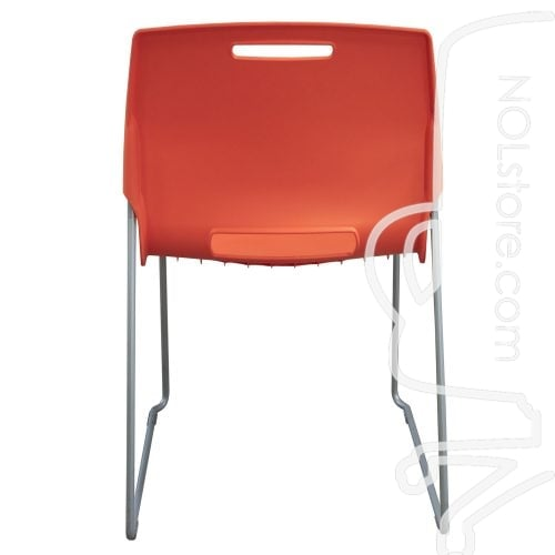 Fixtures Furniture Fetch Used Stack Chair Orange Back View