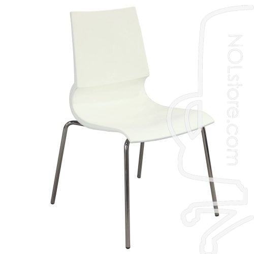 Maxdesign Ricciolina Used Stack Chair White Front View
