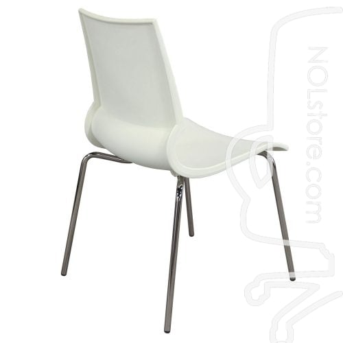 Maxdesign Ricciolina Used Stack Chair White Side View