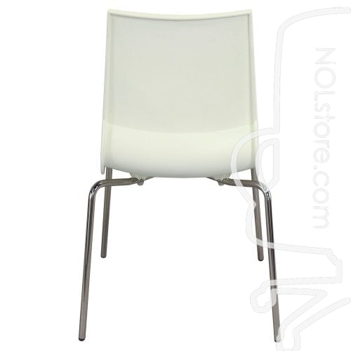 Maxdesign Ricciolina Used Stack Chair White Back View