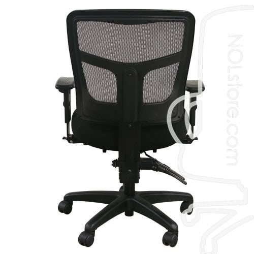 Office Master YS72 Used Mesh Mid Back Task Chair Black Back View