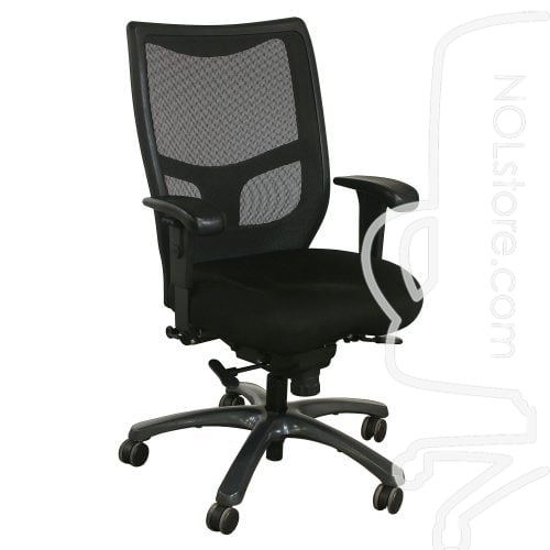 Office Master YS78 Used Mesh High Back Task Chair Black Front View
