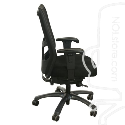 Office Master YS78 Used Mesh High Back Task Chair Black Side View
