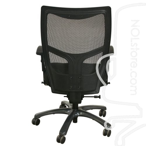 Office Master YS78 Used Mesh High Back Task Chair Black Back View