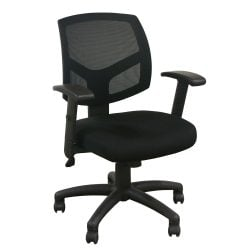 Offices To Go Used Mesh Task Chair Black Front View