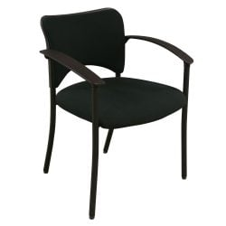 Teknion Amicus Used Guest Chair Black Front View