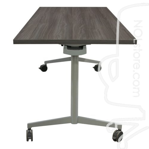30x72 Used Laminate Training Table Blackwood Side View
