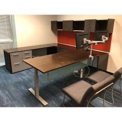 Herman-Miller-Canvas-Used-U-Shape-Desk-Set-Left-Return-Espresso-01