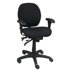 Life Form Used Task Chair Black Front View