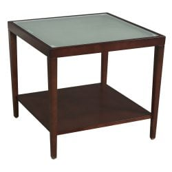 Martin Brattrud Used End Table Frosted Glass Side View