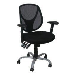Mesh Back Used Task Chair Black Front View