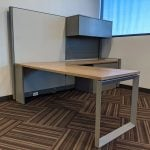 Steelcase Answer 12' Manager Station Used Cubicle Sold as Stand Alone