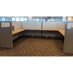 Steelcase Answer 6x8 Buddy Station Used Cubicle - Sold in Pods