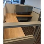 Steelcase Answer 6x8 Used Cubicle Sold in Rows Top View
