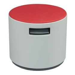 Steelcase Turnstone Buoy Used Round Ottoman Scarlett Front View