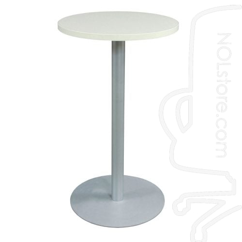 Steelcase Used 24 Inch Round Bar Height Break Room Table White