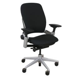 Steelcase Leap V2 Task Chair Black Front View