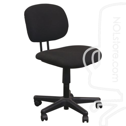 Used Armless Task Chair Black Front View