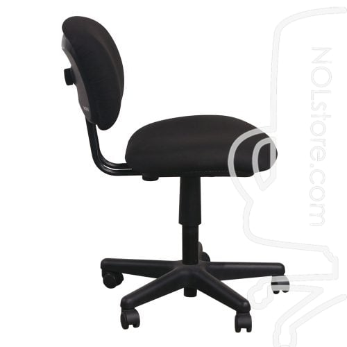Used Armless Task Chair Black Side View