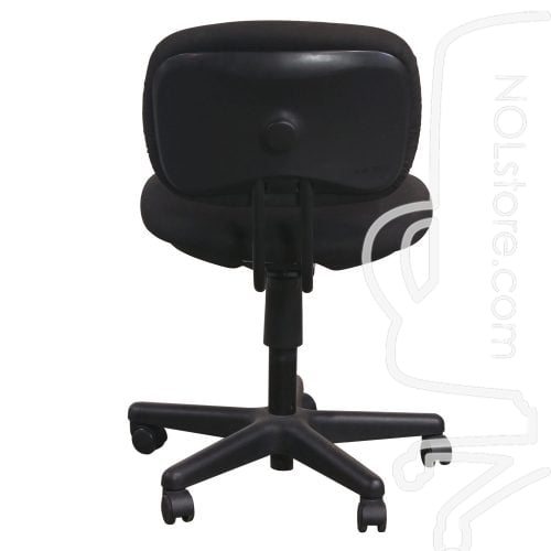 Used Armless Task Chair Black Back View