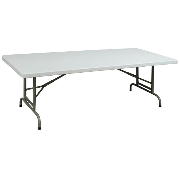 goSIT Adjustable Height Plastic 30 x 72 Folding Table, White