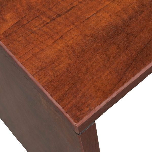 Everyday Right Return Laminate Corner Desk L Shape With Computer Corner, Cherry