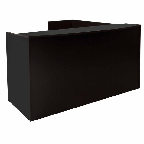 Everyday 36x72 24x42 Laminate L Shape Reception Desk, Espresso