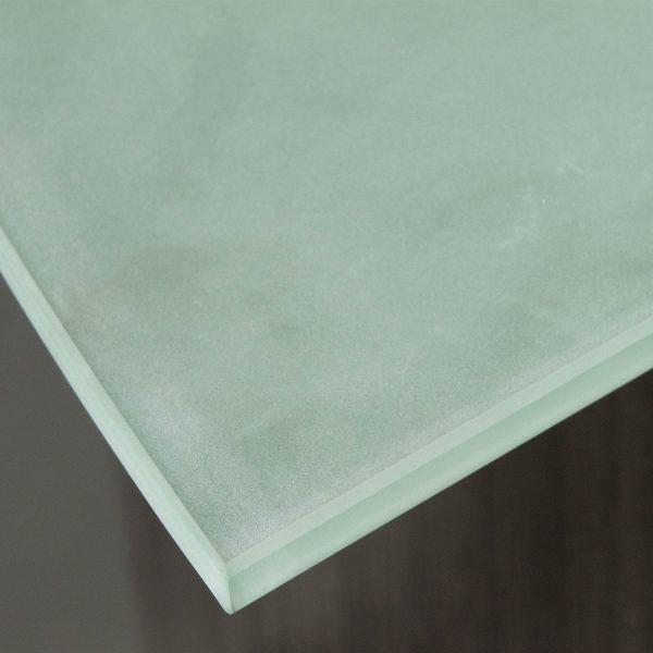 Everyday Glass Top Laminate Reception Desk, Gray