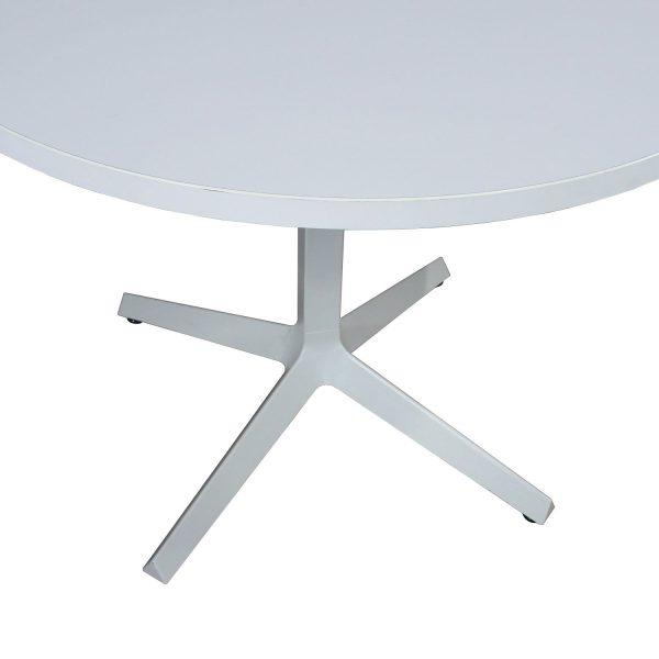 Haworth Used Round 36 Inch Laminate Cafe Table, White