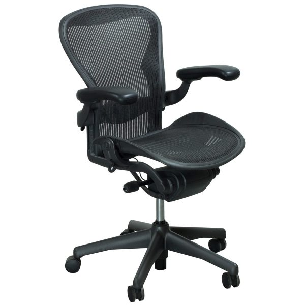 Herman Miller Aeron Used Size B Full Function Task Chair, Carbon